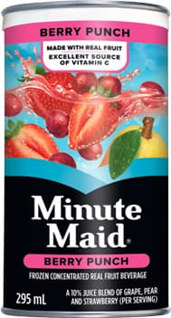 Minute Maid, Berry Punch, 295 mL Frozen Can