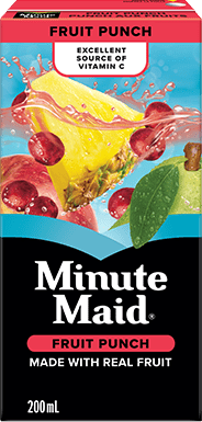 Minute Maid, Fruit Punch, 200 mL Tetra Box