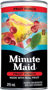 Minute Maid, Fruit Punch, 295 mL Frozen Can