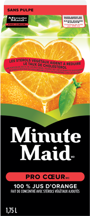 Minute Maid® Heartwise™ Orange Juice From Concentrate with Added Plant Sterols, 1,75 L Carton