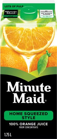 Minute Maid, Home Squeezed Style Orange Juice, 1.75 L Carton