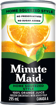 Minute Maid, Home Squeezed Style Orange Juice, 295 mL Frozen Can