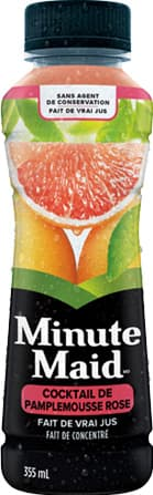 Minute Maid, Pink Grapefruit Cocktail, 355 mL Plastic Bottle